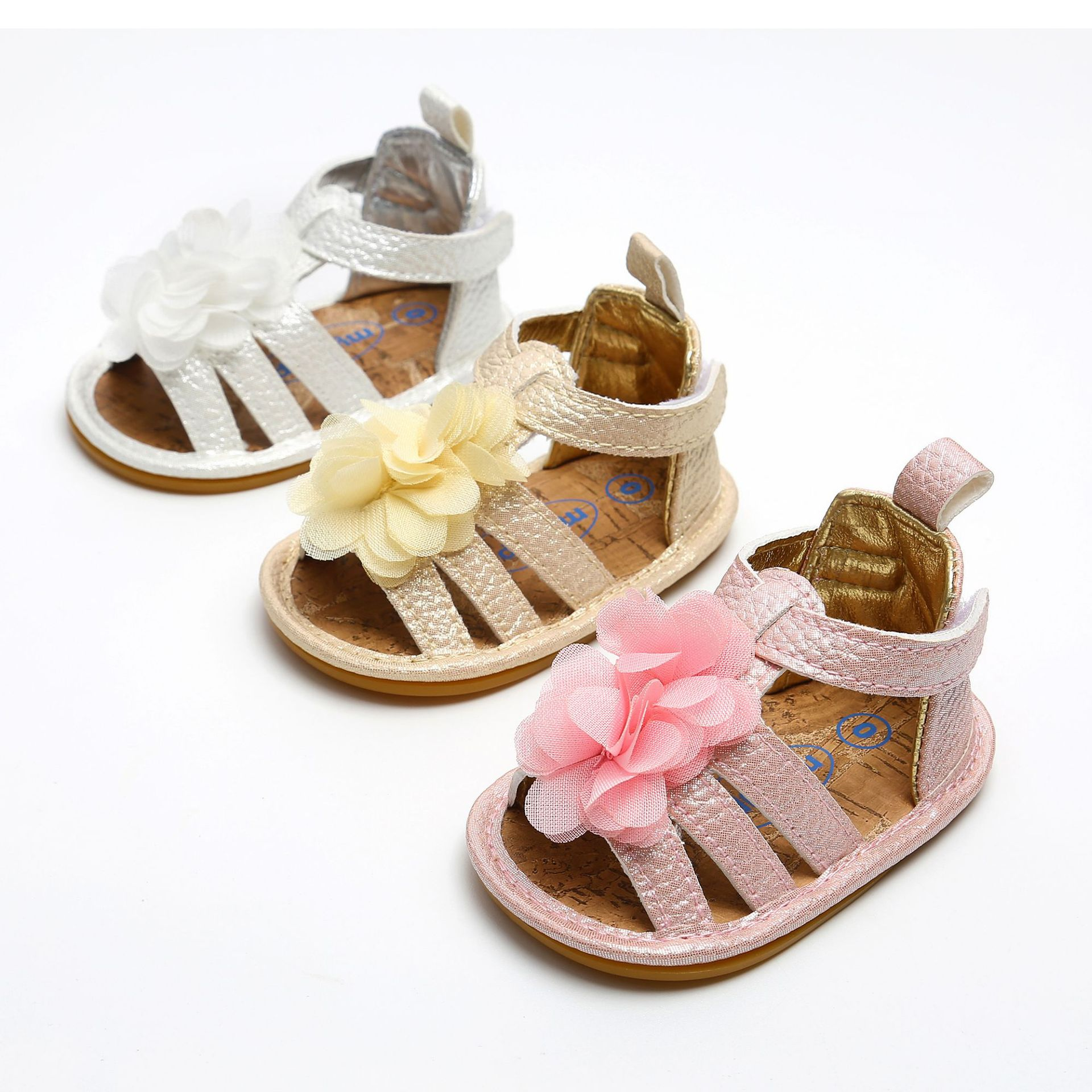 Baby Sandals Summer PU Leather Flower Design Newborn Baby Girl Boy Crib Shoes First Walkers Many Colors For Choose.DX230C