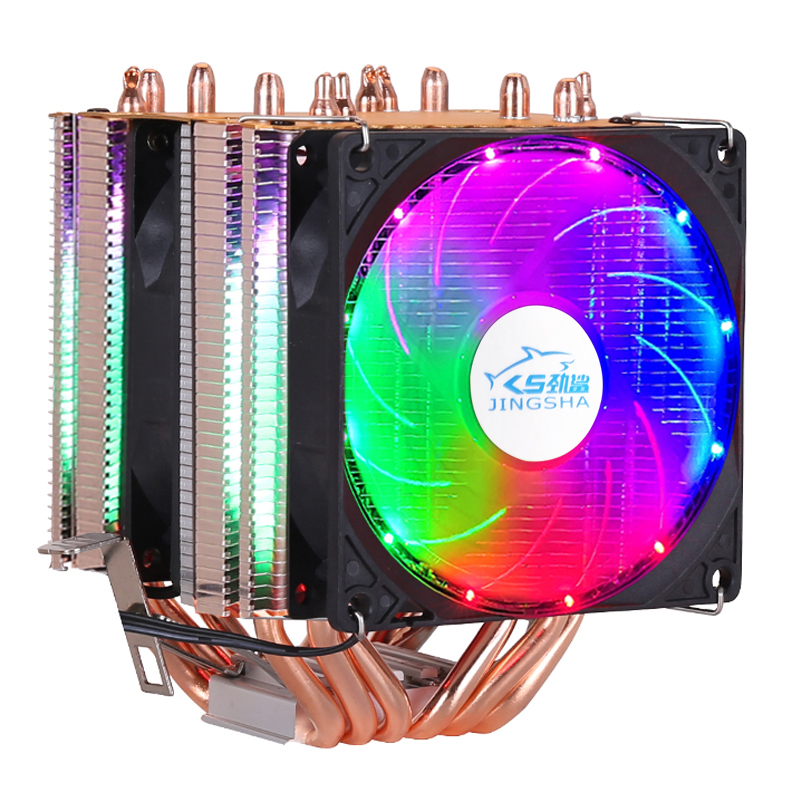 6 heat-pipes dual-tower cooling <font><b>CPU</b></font> <font><b>Cooler</b></font> 9cm <font><b>RGB</b></font> fan support 3 fans 4PIN <font><b>CPU</b></font> Fan for Intel and AMD image