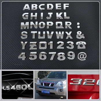 Car DIY Letter Alphabet number Stickers Logo for Mercedes Benz W203 W210 W211 W204 A C E S CLS CLK CLA GLK ML SLK Smart image
