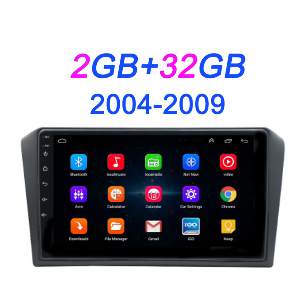 Android 8.1 <font><b>f</b></font>ür Mazda 3 2004-2013 maxx axela Auto DVD GPS Radio Stereo 1G 16G WIFI Freies KARTE Quad Core 2 <font><b>din</b></font> Auto Multimedia Player image