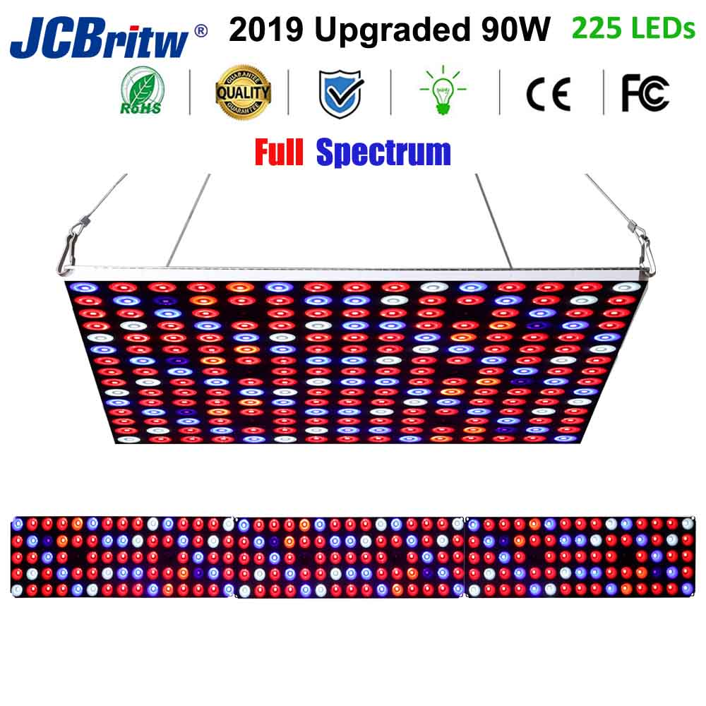 JCBritw LED Grow Light Growing Lamps 90W AC85-265V Full Spectrum Plant Grow Light For Indoor Plants Hydroponic Veg Flower Fruits