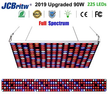 JCBritw LED Grow Light Growing Lamps 90W AC85-265V Full Spectrum Plant Grow Light for Indoor Plants Hydroponic Veg Flower Fruits wholesale price led grow light 300w indoor led plant grow light kit full specturm led light for plants veg and flower 10pcs