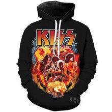 Summer Metal Rock KISS Band T Shirt Men/