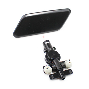 Image 5 - Car accessories Front Bumper HeadLight Washer Spray Nozzle Cover Left Right With Connector Holder for Subaru Outback 2010 2012