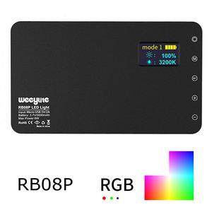 Image 3 - Weeylite RB08 RB08P RGB 2500K 8500K מיני וידאו LED אור מילוי אור מובנה סוללה עבור טלפון מצלמה ירי סטודיו