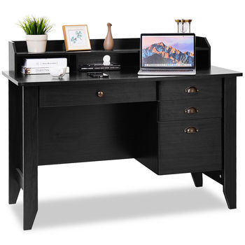 Costway Computer Desk PC Laptop Writing Table Workstation Student Study Furniture HW65851BK