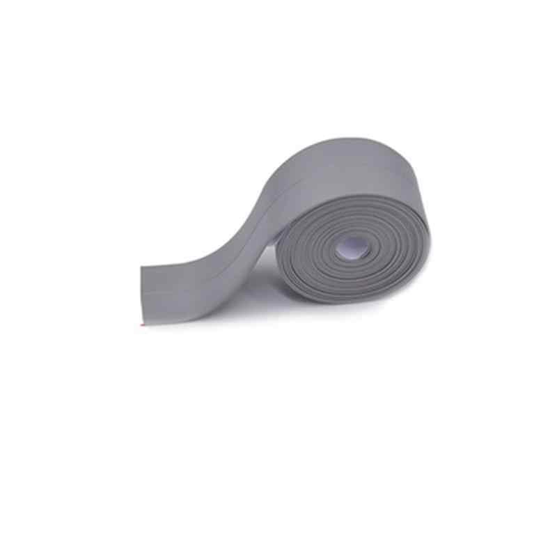 3.2m × 22 ミリメートル浴室のシャワーシンクバスシールストリップテープ白pvc自己接着防水壁のステッカーのための浴室キッチン