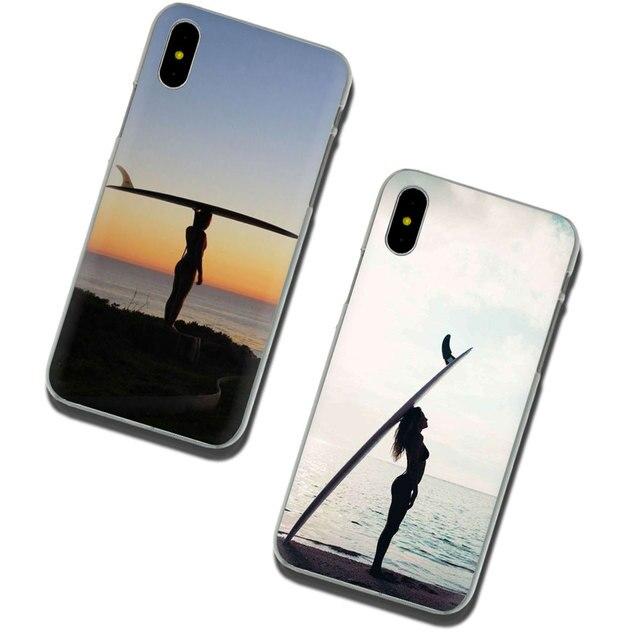 EWAU morze fala surf lato surfing ocean twardy telefon pokrywy skrzynka dla iPhone 11 Pro 6 6S Plus 7 8 Plus X XS XR XS Max