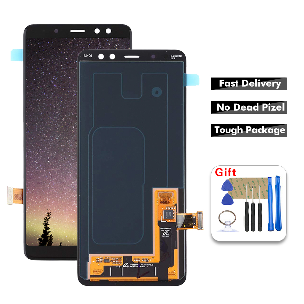 For Samsung Galaxy A8 2018 A530 <font><b>A530F</b></font> A530DS LCD Display <font><b>Screen</b></font> Digitizer Touch Panel Glass Sensor Assembly <font><b>Replacement</b></font>+Tools image