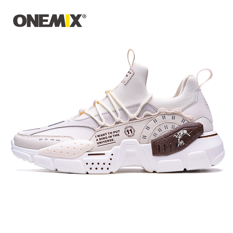 ONEMIX 2020 New Running Shoes For Men Height Increasing Ulzza Harajuku Cushioning Platform Retro Sports Shoes Walking Sneakers