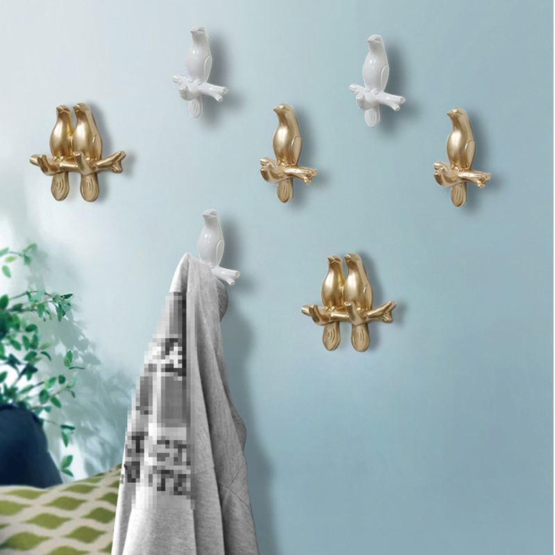 Nordic Bird Hook Animal Hooks American Hanging Hook Holder Hanger Keys Holder Wall Decoration Bedroom Door Home Decoration