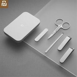 Xiaomi mijia manicure cortador de unhas de aço inoxidável corte de unhas profissional aparador de unhas toe unha clipper ferramenta