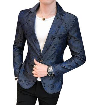 Men Personality Hairstyle Shihua Suit 2020 Night Show Small Suit Trend Leisure Single West Slim Fit Type Coat