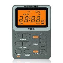 2021 Новый Yorek мини карман AM/FM радио, лучший Приём, перезаряжаемое портативное радио с наушниками, MP3 плеер Поддержка TF карты