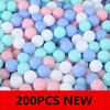 100/200Pcs Colors Baby Plastic Balls Water Pool Ocean Wave Ball Eco-Friendly Transparent Pit Soft Kids Basketball Outdoor Toys