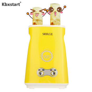 Kbxstart 220V Electric Omelette Dual Egg Roll Maker Automatic Double Switch Boiled Eggs Sausage Machine Cooker For Breakfast 220v automatic electric household egg roller machine egg sausage machine egg roll breakfast machine ham egg sausage maker