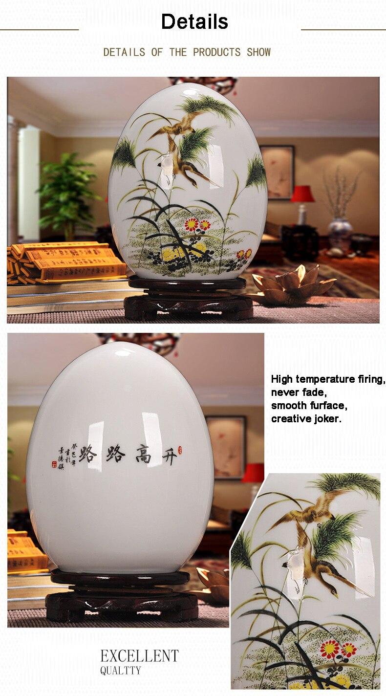 pó esmalte fino próspero ovo contemporâneo decoração para casa artigo