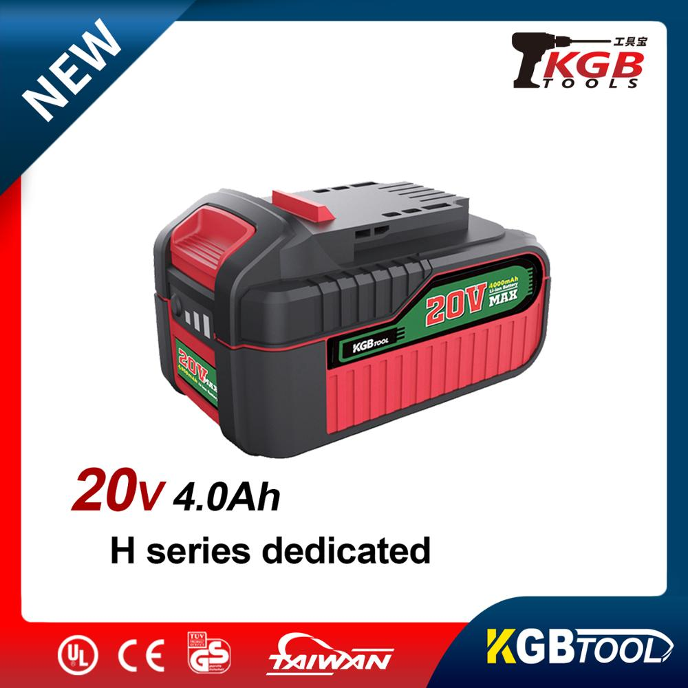 KGB 20V Max Spare Li-ion Battery Replacements For All K Series Rechargeable Power Tools 2000/4000mAh Lithium Battery
