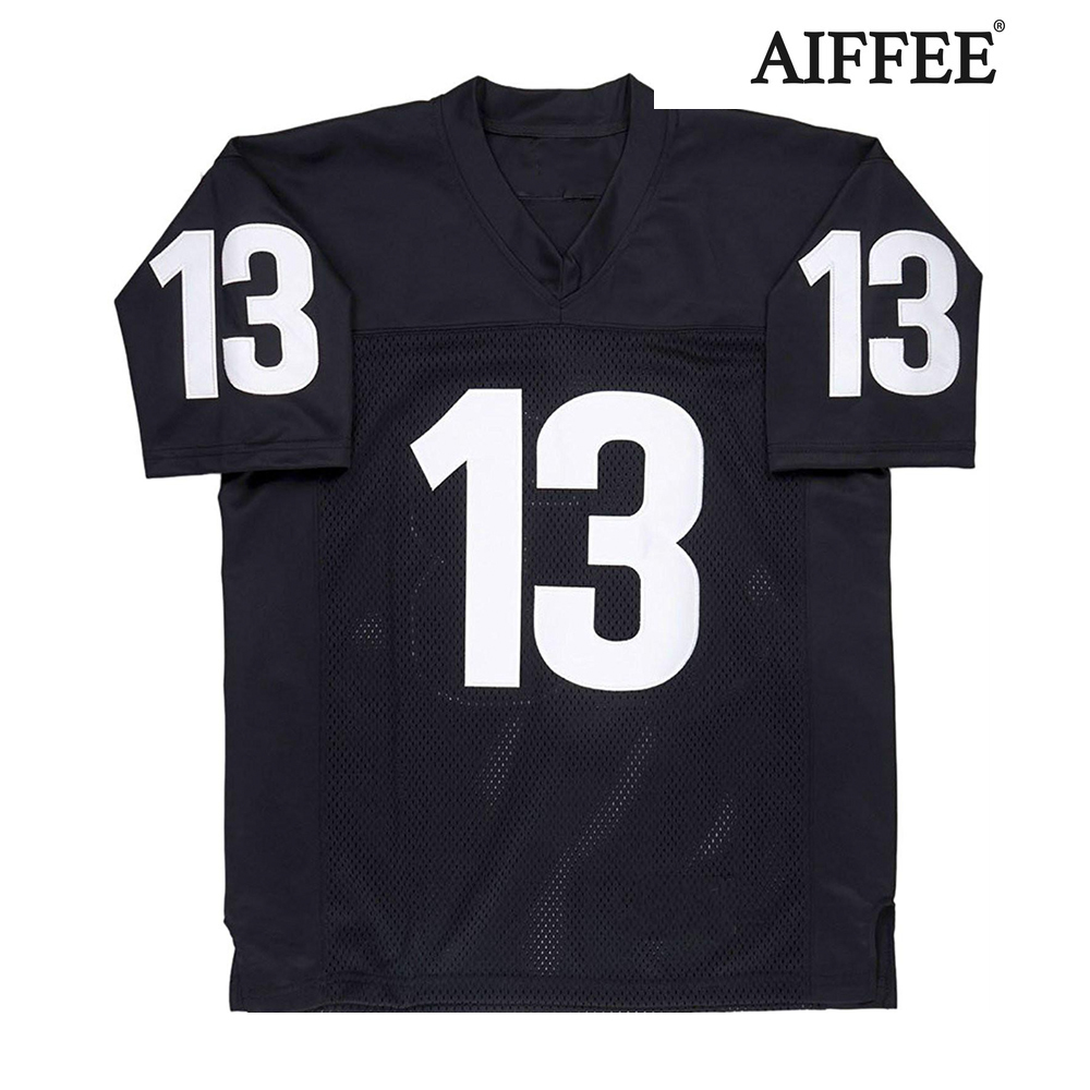 AIFFEE Football Jersey from Movie tv Hip Hop Shirts Tees t shirt Stitched Costume 44 42 13 33 45 Stitched Name and Number S-3XL 1