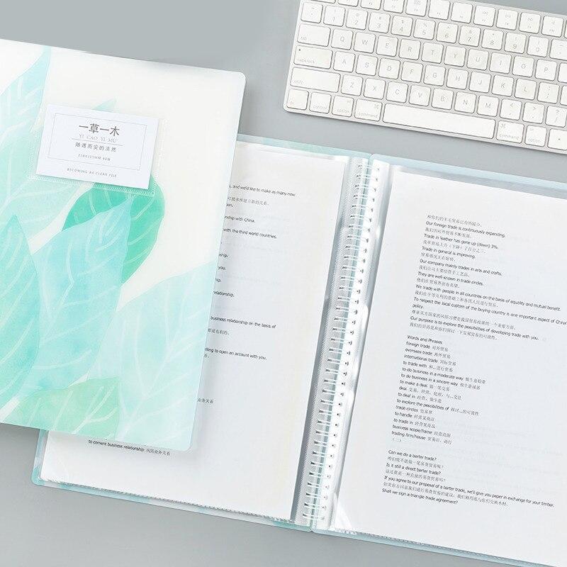 3 8 16 De Réduction A4 Dossier 20 40 Poches Belle Couverture Présentation Dossier étudiant Test Papier Bureau Document Organisateur Produits De