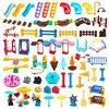 Big Building Blocks Compatible Slide Swing Seesaw Park Playground Series Large Bricks Children Educational Creative Toy Kid Gift