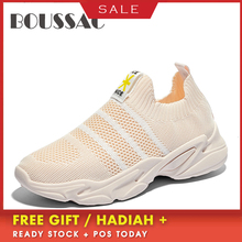 BOUSSAC 2019 Womens Models Wild Running Shoes Mesh Breathable Woman Fitness Lace-up Lightweight Black Women