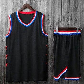 Uomo Bambini Basket Maglie Vestito Dei Ragazzi Del College Mens Divise da Basket di Sport Kit Camicette Shorts Set di Stoffa Traspirante Stampa Personalizzata 1