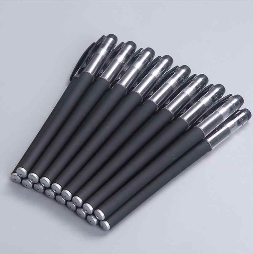 أسود ماتي جل القلم الأعمال قلم توقيع أسود 0.5nn رصاصة المياه القلم امتحان الطالب الكتابة