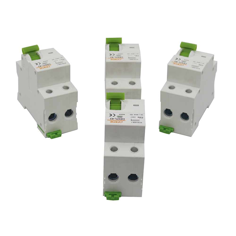 beautiful breaking current 6000A earth leakage protection circuit breaker MCB mini circuit breaker 16A 25A 32A DPNL1P+N 230V