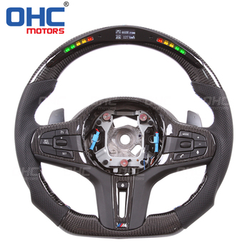 Real Carbon Fiber LED Steering Wheel compatible for BMW G15F40G20G30G01G11G05 8135X37X5 Series