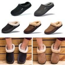 Теплые хлопковые тапочки; Зимняя мужская повседневная обувь;