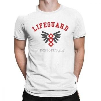 Lifeguard rojo salvavidas Unisex uniforme camisetas hombres algodón camisetas espacio marino camisetas ropa adulto talla grande 4XL 5XL 6XL