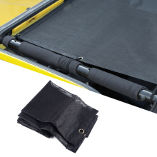 Black PVC Mesh Shade Top Cover Sunshade UV Protection Fit for Jeep Wrangler TJ 1997 1998 1999 2000 2001 2002 2003 2004 2005 2006