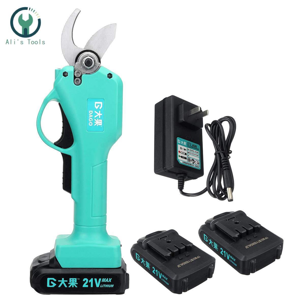 21V Wireless Electric Rechargeable Scissors Pruning Shears Tree Garden Tool Branches Pruning Tools W/1 Or 2 Li-ion Battery