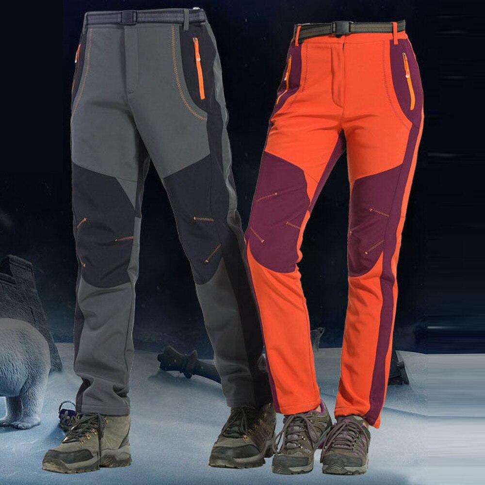 Men Couple Waterproof Windproof Outdoor Hiking Warm Winter Thick Pants Trousers Campping Trekking Mountain Pants Outdoor 12.3