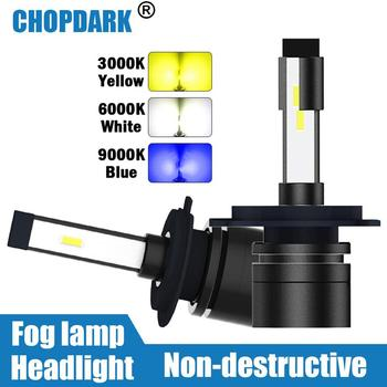Светодиодный противотуманный фонарь для автомобиля 3000K желтый 6000K Белый 9000K синий H1 H3 H4 H7 H11 H9 H8 9005 HB3 9006 HB4 880 881 H27 H10 HB2 9003