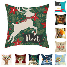 Fuwatacchi Christmas Series Cushion Cover Cartoon Style Pillow Case Home Decorative Colorful for Sofa Car Bed Seat