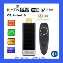 X96S 4K טלוויזיה מקל אנדרואיד 9.0 מיני מחשב 4GB 32GB Amlogic S905Y2 Quad Core 2.4G & 5GHz Dual Wifi BT4.2 1080P H.265 Miracast הטלוויזיה Dongle
