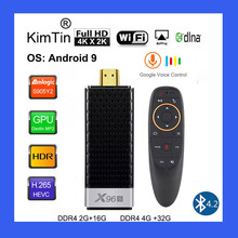X96S 4K جهاز استقبال للتليفزيون أندرويد 9.0 كمبيوتر صغير 4GB 32GB Amlogic S905Y2 رباعية النواة 2.4G & 5GHz ثنائي واي فاي BT4.2 1080P H.265 Miracast موصل تلفاز
