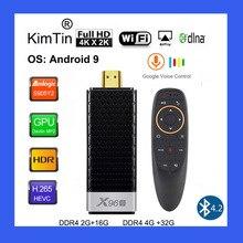 X96S 4K TV Stick Android 9.0 Máy Tính Mini 4GB 32GB Amlogic S905Y2 Quad Core 2.4G & 5GHz Dual Wifi BT4.2 1080P H.265 Miracast TV Dongle