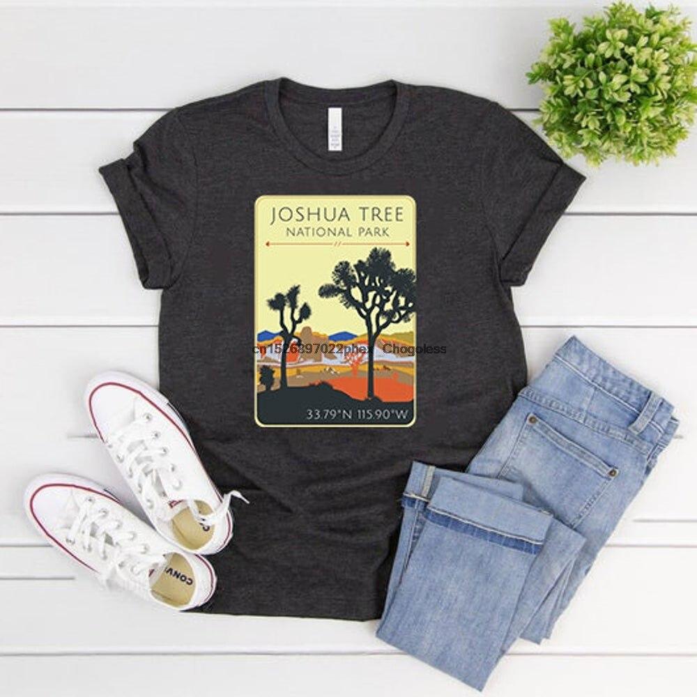 Рубашка с изображением дерева шушушуа в национальном парке, рубашка с изображением дерева шушушуа в пустыне, рубашка в национальном парке, ...