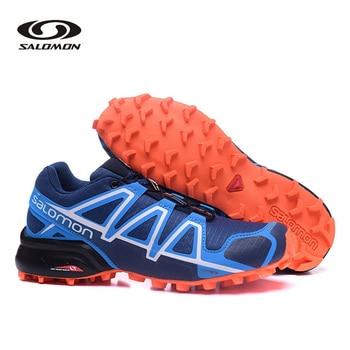 Salomon Speed Cross 4 Sport Men Shoes Lightweight Breathable Outdoor Running Sneakers  Speed Cross 4 Men Running Shoes