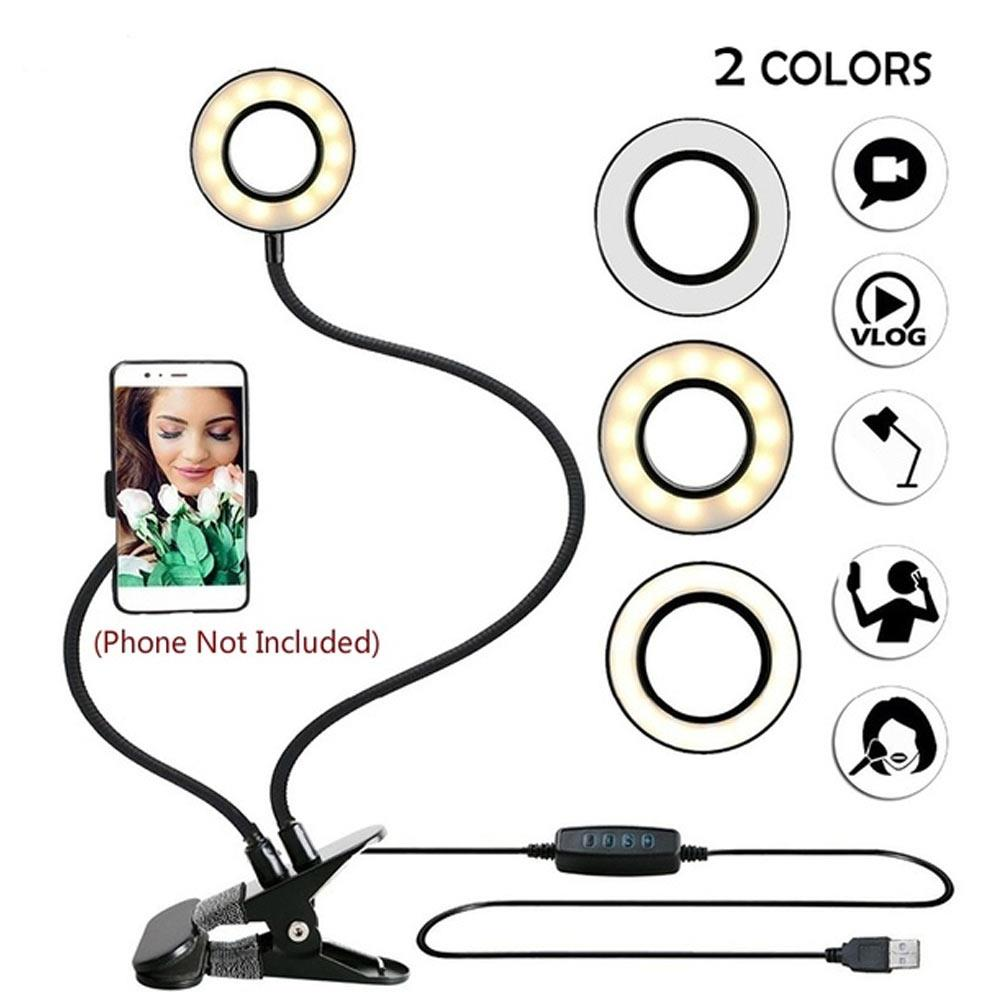 Black Portable Universal Selfie Ring Light Ring Light Ring Fill Light LED Ring Light Live Broadcast Dimmable Photo Sudio Stand