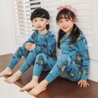 2020 детские пижамы осенняя одежда для сна для мальчиков и девочек одежда для сна для малышей пижамные комплекты с рисунками животных хлопков...