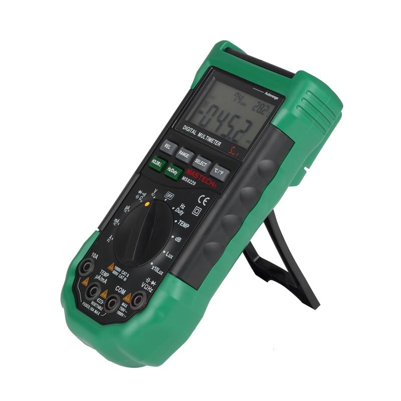 Tools : Original  Mastech MS8229 5 in1 Auto Range Digital Multimeter Multifunction Lux Sound Level Temperature Humidity Tester Meter