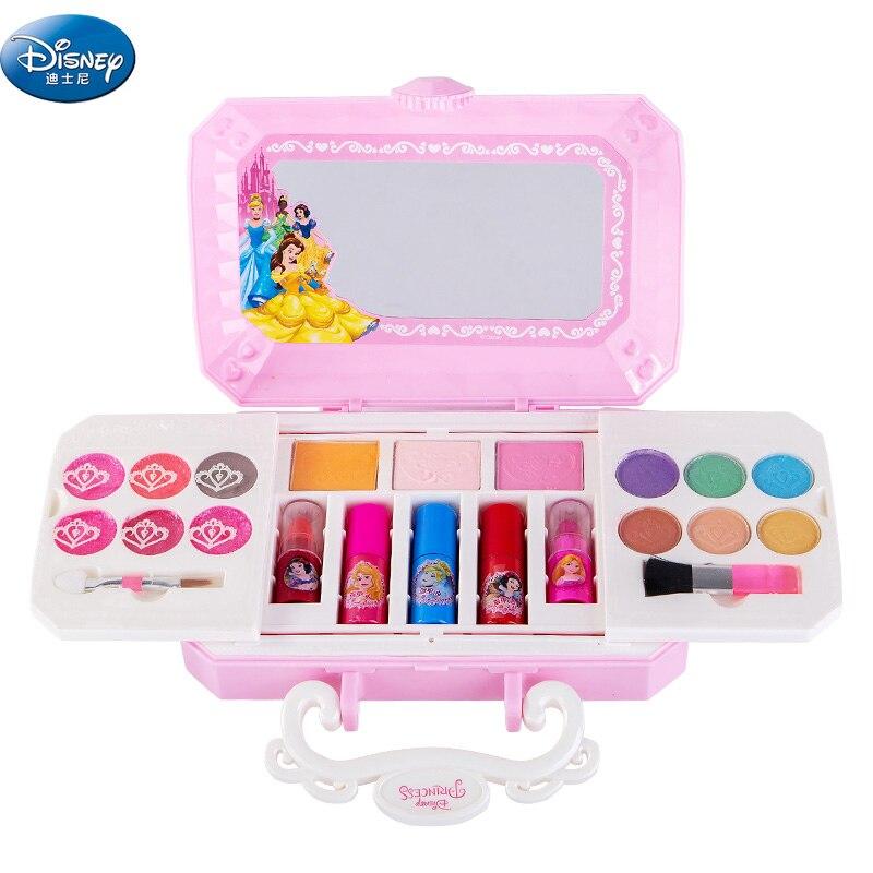 Meninas Princesa Cosméticos compo o jogo Dos Desenhos Animados da disney congelado anna elsa polonês caixa de maquiagem Beleza do bebê caçoa o presente de Natal