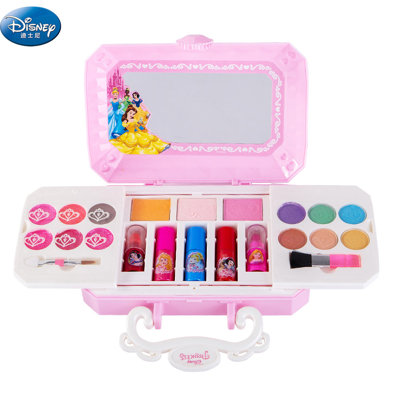 Girls Princess  Cosmetics Make Up Set Disney  Cartoon Frozen Anna Elsa Polish Beauty Makeup Box  Baby  Kids Christmas Present