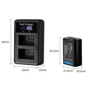 Image 2 - Mamen 3Pcs NP FW50 Np FW50 NPFW50 Digitale Camera Batterij 2100Mah + Lcd Dual Charger Voor Sony NEX 3 A7R a6500 A6300 A6000 A5000 Een