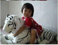 110cm Giant White South China Tiger Stuffed Animal Plush Soft Toy Doll Halloween Toys