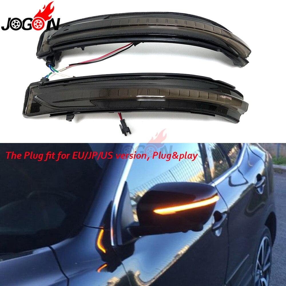 Prise ue JP pour Nissan x-trail T32 Qashqai J11 Murano Z52 Navara NP300 rétroviseur latéral LED clignotant dynamique